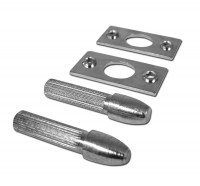 Asec Hinge Bolts Pair Bright Zinc