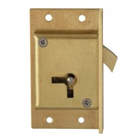 Asec 80 - 4 Lever Sliding Cupbard Lock 64mm Right Hand