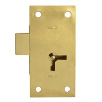 Asec 100 - 1 Lever Straight Cupboard Lock 75mm