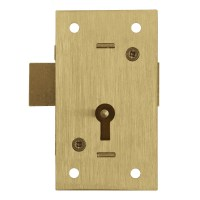 Asec 36 - 2 Lever Straight Cupboard Lock Keyed Alike 64mm