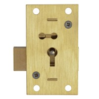 Asec 51 - 2 Lever Straight Cupboard Lock  50mm Brass