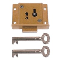 Asec 41 - 4 Lever Till Lock Keyed Alike 50mm Brass