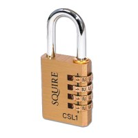 Squire Brass Body Recodable 4 Wheel Combination Padlock CSL1