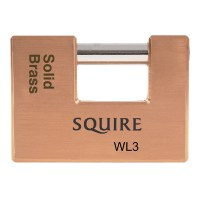 Squire WL3 5 Pin Straight Shackle Padlock 90mm