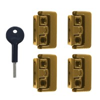 Yale-Chubb 8K101M Window Lock Brass 4 Locks 1 Key