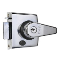 ERA 183-35 nightlatch 70mm Satin Chrome Case Satin Cylinder
