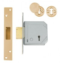 Chubb - Union 3G114E 5 Lever BS3621:2007 Dead Lock 67mm Polished Brass