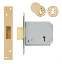 Chubb - Union 3G114E 5 Lever BS3621:2007 Dead lock 80mm Polished Brass