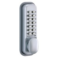Codelock CL155 Push Button Digital Door Lock Mortice Latch Silver Grey