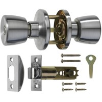 ERA 168-52 Privacy Locking Knob set including latch Satin Chrome