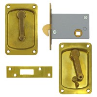 Willenhall 3000 Mortice Hookbolt 76mm Brass with Snib