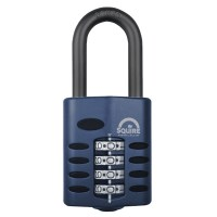 Squire CP50/1.5 4 Wheel Combination Padlock Long Shackle 50mm