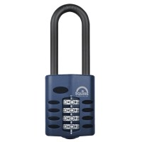 Squire CP50/2.5 4 Wheel Combination Padlock Extra Long Shackle 50mm
