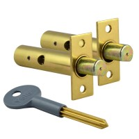 Yale PM444 Door Security Bolt 2 Bolts 1 Key Brass
