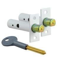 Yale PM444 Door Security Bolt 2 Bolts 1 Key White