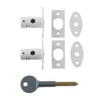 Chubb-Yale 8001M Mortice Window Bolt White 2 Bolts 1 Key