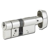 Yale Anti Snap Key and Turn Euro Cylinder BS1303:2005 40/40 80mm Nickel
