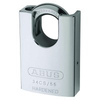 ABUS 34CS/55 6 Pin Hardened Steel Rekeyable Padlock Closed Shackle 55mm