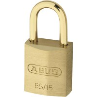 ABUS 65/15 Brass Body Open Shackle 4 Pin Padlock 16mm