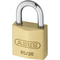 ABUS 65/20 Brass Body Open Shackle 4 Pin Padlock 20mm