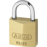 ABUS 65/25 Brass Body Open Shackle 4 Pin Padlock 25mm