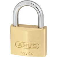 ABUS 65/40 Brass Body Open Shackle 5 Pin Padlock 40mm Twin Pack