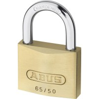 ABUS 65/50 Brass Body Open Shackle 5 Pin Padlock 50mm