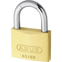 ABUS 65/60 Brass Body Open Shackle 5 Pin Padlock 60mm