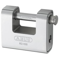 ABUS 92/65 Straight Shackle Steel Clad Padlock 67mm Keyed Alike