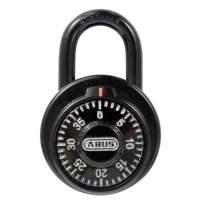 ABUS 78/50 Dial Combination Padlock with Key over-ride 50mm Black