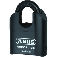 ABUS 190CS/60 Heavy Duty Combination Padlock Closed Shackle 62mm