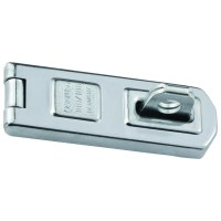 ABUS 100/100 Single Link Hasp and Staple Silver with screws 100mm