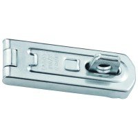 ABUS 100/80 Single Link Hasp and Staple Silver with screws 80mm