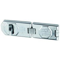 ABUS 110/155 Double Link Hasp and Staple Silver with screws 155mm
