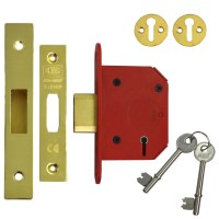 Union 2105 StrongBolt 5 Lever Deadlock 68mm Polished Brass