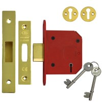 Union 2105 StrongBolt 5 Lever Deadlock 81mm Polsihed Brass