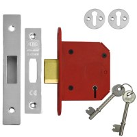 Union 2105 StrongBolt 5 Lever Deadlock 81mm Stainless Steel