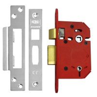 Union 22WCS StrongBolt Bathroom Lock 64mm Satin Chrome