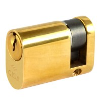 CISA 09026-02 5 Pin Oval Single Cylinder 43mm Brass