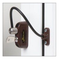 Jackloc Safety Cable Window Restrictor with Key Child Safety Brown