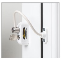 Jackloc Safety Cable Window Restrictor with Key Child Safety White