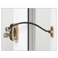 Jackloc Safety Cable Window Restrictor with Key Child Safety Brass