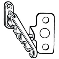 Roto Tilting Window Restrictor and Plate - 5ROT0086