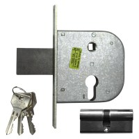 CISA 42311-50 Euro Cylinder Gate Lock 95mm Nickel Plated