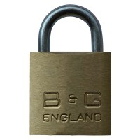 B&G Warded Brass Open Shackle Padlock - Steel Shackle - 32mm KA `D4` - D101