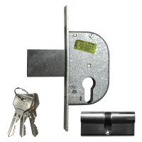 CISA 42111-30 Euro Cylinder Gate Lock 58mm Nickel Plated