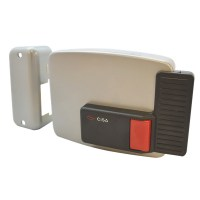 CISA 11610 Electric Rim Lock for Internal Wooden Doors Left Hand Out