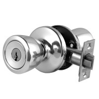 Weiser NA531 Beverley Entrance Knob set Satin Chrome