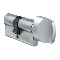 EVVA A5 Euro Key and Turn Cylinder 31/31 62mm Nickel Plated