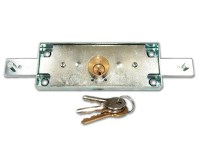 Viro 8201 Central Shutter Door Lock Silver Case Brass Cylinder
